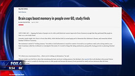 Interview on Fox 4ward - Brain Stimulation and Memory
