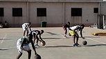 Séance d'initiation au basket