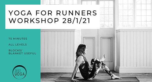 Yoga for Runners Workshop 28/01/21