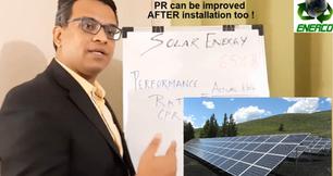 Solar Energy : PR above 75%?