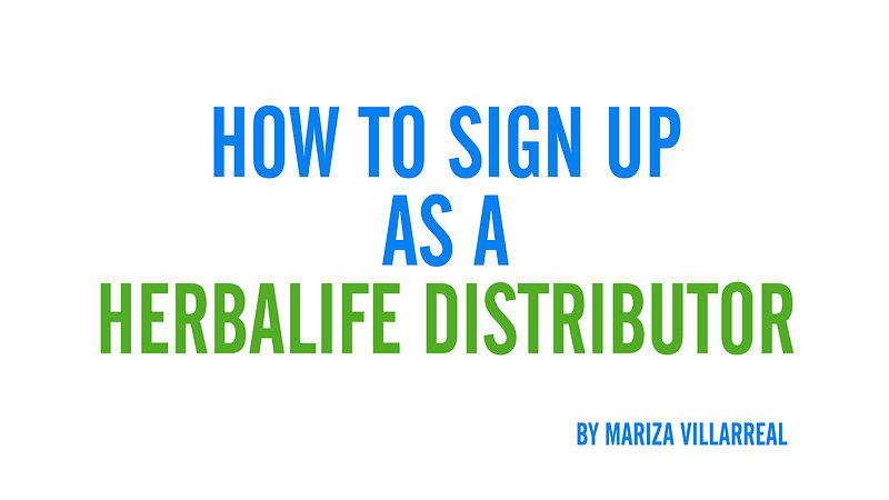 How to signup as a Herbalife Distributor