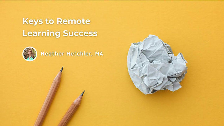 Preview: Keys to Remote Learning