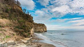 ドン・ロドリゴ上陸の地 田尻海岸   Don Rodrigo's landing place, Tajiri beach
