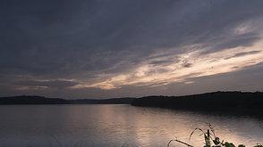 夏の夕刻の狭山湖2  Sunset in late afternoon 2