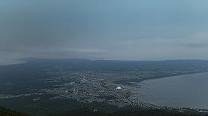 嵐の前のむつ市街   Mutsu city area, Aomori, before the storm.
