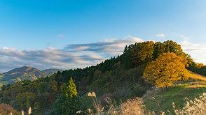 夕暮れ時の東秩父の山並み  A mountain range of Higashi Chichibu, at autumn dusk.