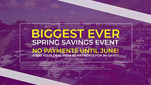 Off Lease Only Spring Saving Event