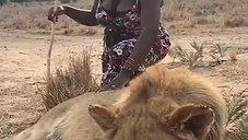 Suzie with Lion
