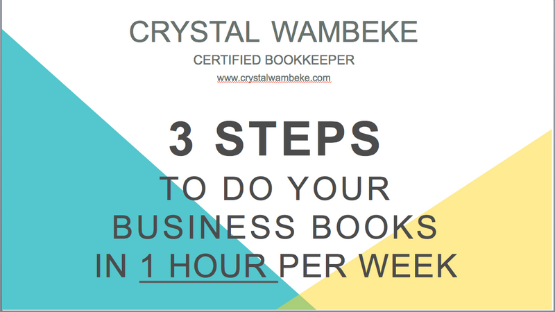 Webinar: 3 Steps To Do Your Business Books In One Hour Per Week