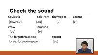 無料発音練習サンプル動画:Squirrels and Oak Trees