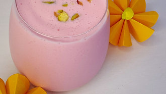 Celebrate this coming Deepavali 🪔 at home with homemade healthy Rose 🌹 Lassi in easy steps!
