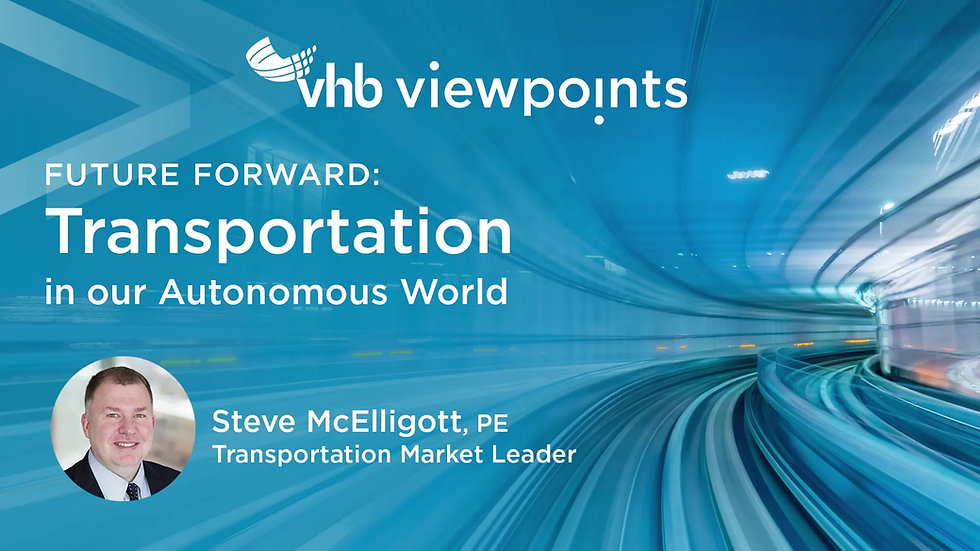 Future Forward: Transportation in our Autonomous World