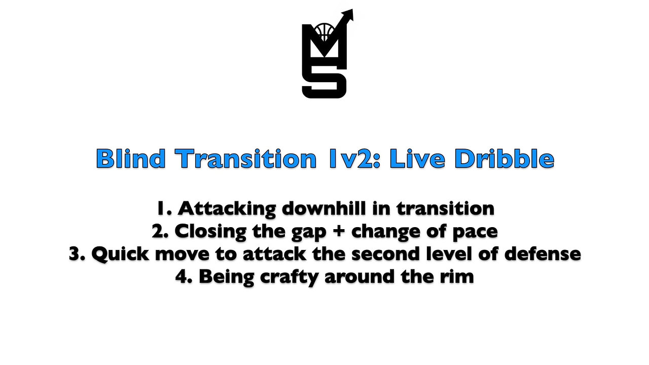 Blind Transition 1v2: Live Dribble