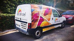 """Habillage de véhicule """"Arc En Ciel"""" Aix en Provence"""