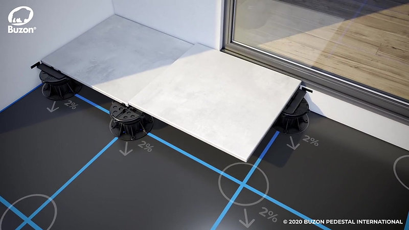 Buzon DPH Pedestals - best solution for your raised terraces (540)