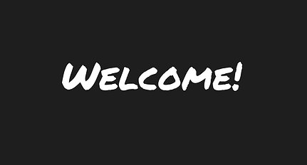 Welcome to the site!