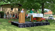 June 28, Outdoor Mass