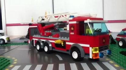 les pompiers...