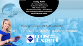 EDFIN College Planning Experts- 8th - 10th Grade Online Training Module