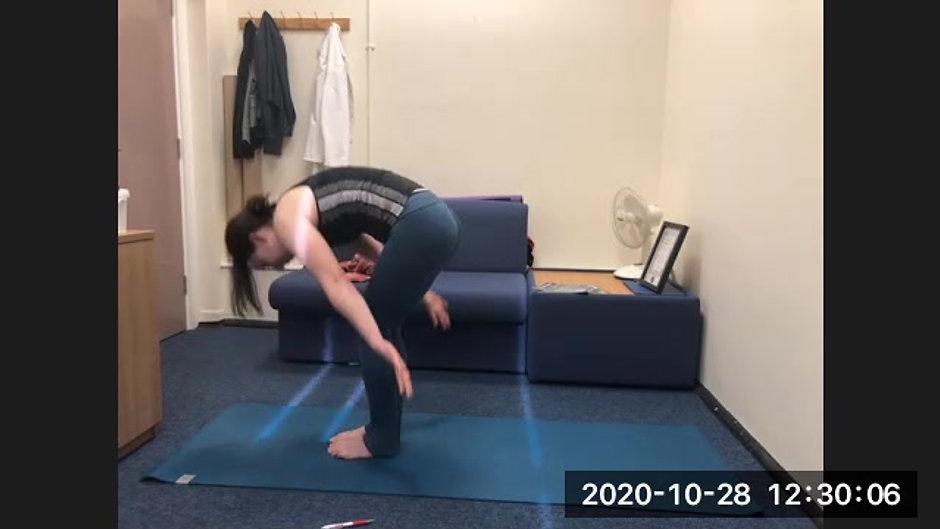 Wednesday Wellbeing Yoga 20/11/2020