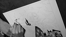 Castlevania_ Symphony of the Night - scratchboard making of
