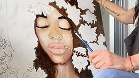 """""""YUKA"""". Oil on canvas"""