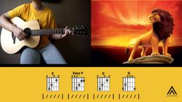 The Tokens - The Lion Sleeps Tonight [G Key Guitar]