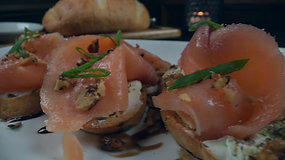 Smoked Salmon Bruschetta $13.50
