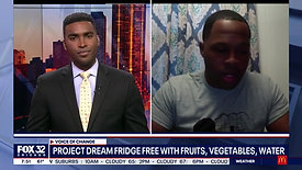 1 Fox32 Chicago speaks to Dion about Project Dream Fridge