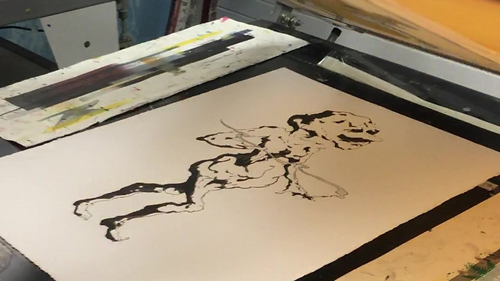 "Printing ""The Durry Shovel Yōkai"""