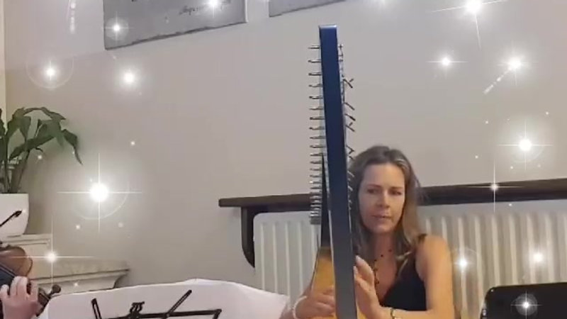 Nella harp and violin snippet