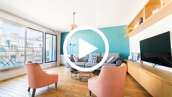 Levallois-Perret : Appartement 126m2 au 5ème étage avec Terrasses   Teaser