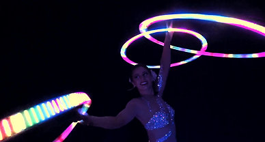 Helen Orford LED Hula Hoop Act