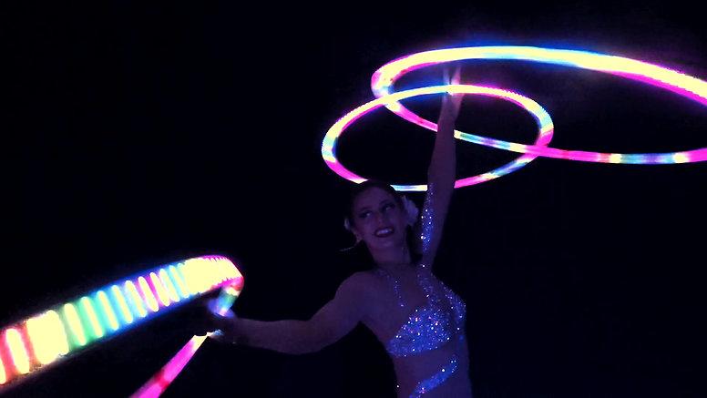 Helen Orford LED Hula Hoop Act