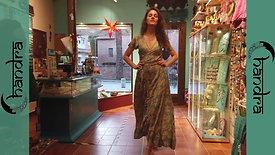 Vestido largo cruzado Rayón