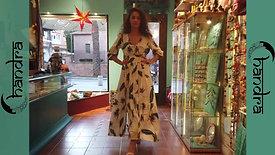 Vestido largo falda abierta Rayón