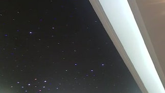 Stars on black satin ceiling