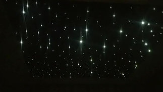 Stars on black ceiling