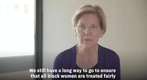 Senator Elizabeth Warren Supports Black Womxn United