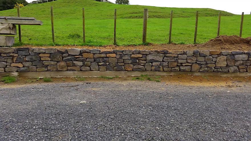 Te Mata Basalt wall