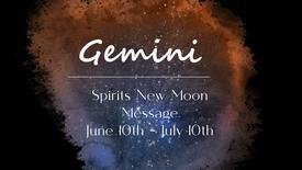 GEMINI - June 10th New Moon Eclipse