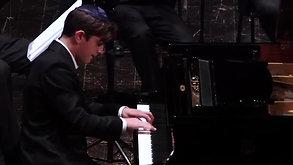 Dan Blank (13 yo)  Bach Piano Concert D-minor 1 movement. BWV 1052. Swiss School of Music