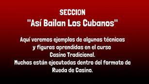 """Sección: """"Así Bailan los Cubanos"""""""