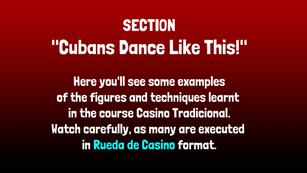 "Section: ""Cubans Dance Like This!"""