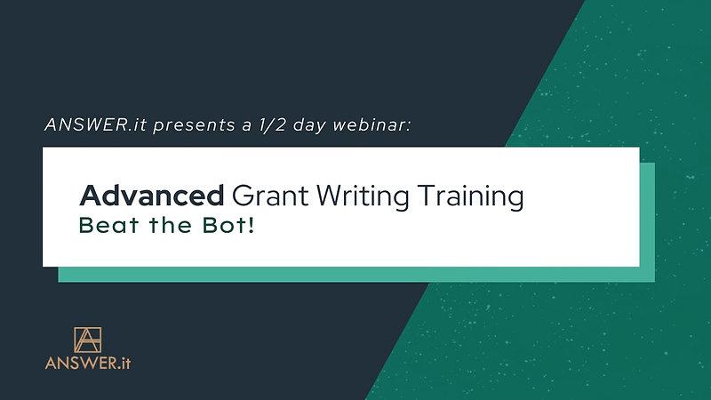 Canva Trailer - Advanced Grant Writing - Beat The Bot - v4
