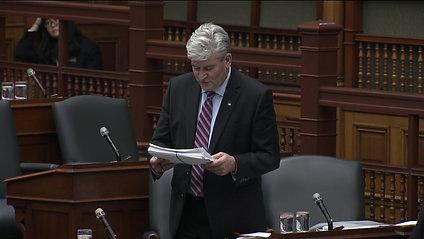 MPP John Fraser reads second batch of OPFP petitions Dec. 12, 2019