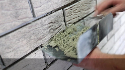 Grouting Thin Brick