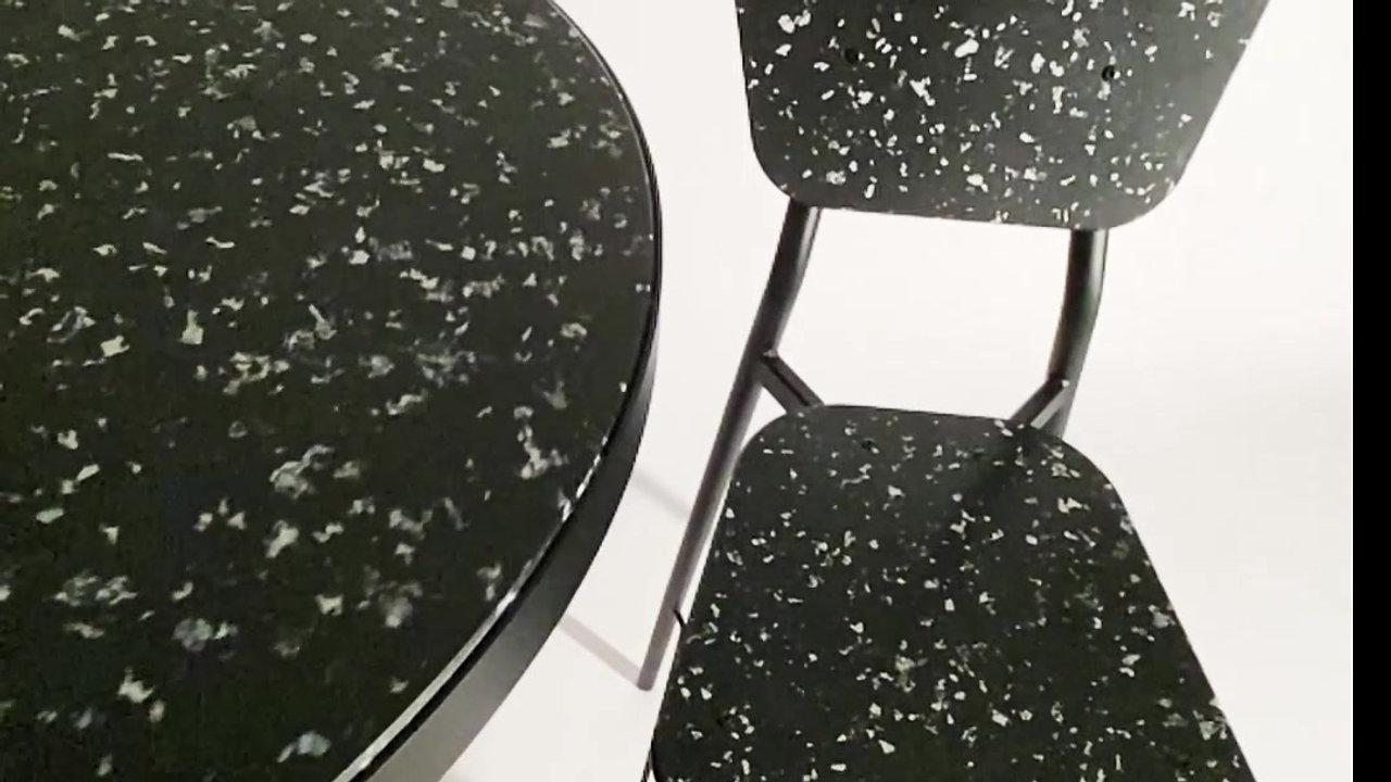 TABLE HAUTE NOIRE RALENTI