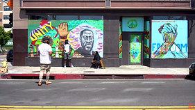 Shak Smart BLM Mural collab with Brittney Sprice