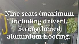 Renault Trafic nine seat school minibusd